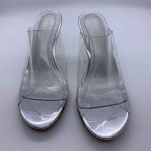 Chase + Chloe clear sandals
